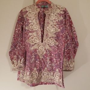 Taj purple & pink tunic
